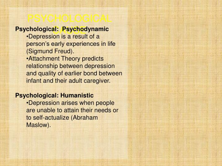 PSYCHOLOGICAL CAUSE