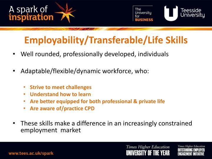 Employability/Transferable/Life Skills
