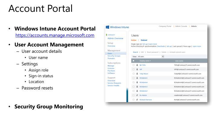 Account Portal