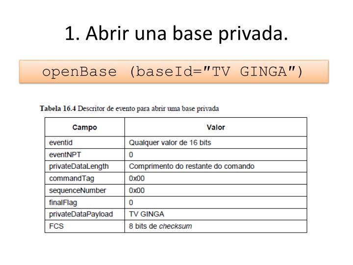 1. Abrir una base privada.