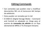 editing commands