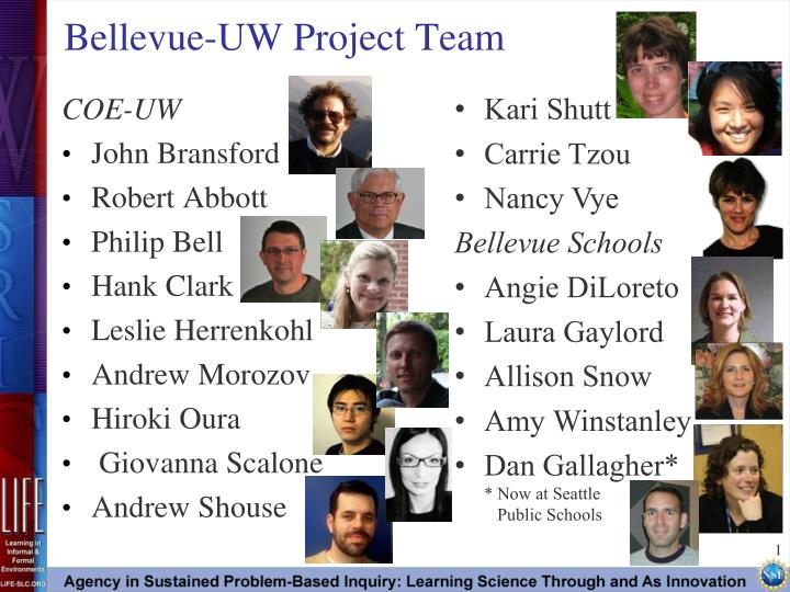 Bellevue uw project team