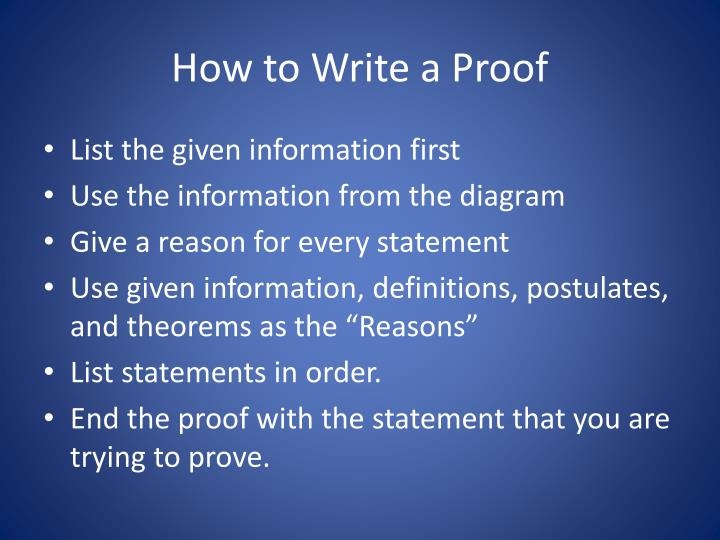 How to Write a Proof