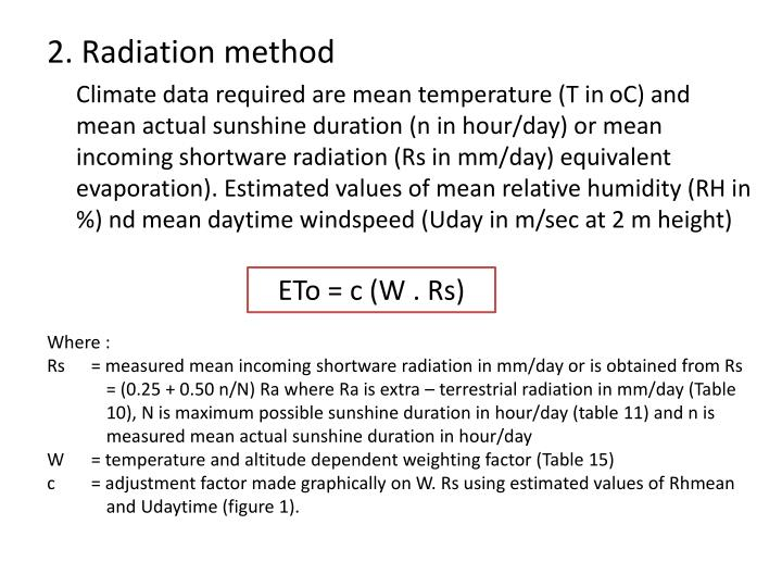 2. Radiation method