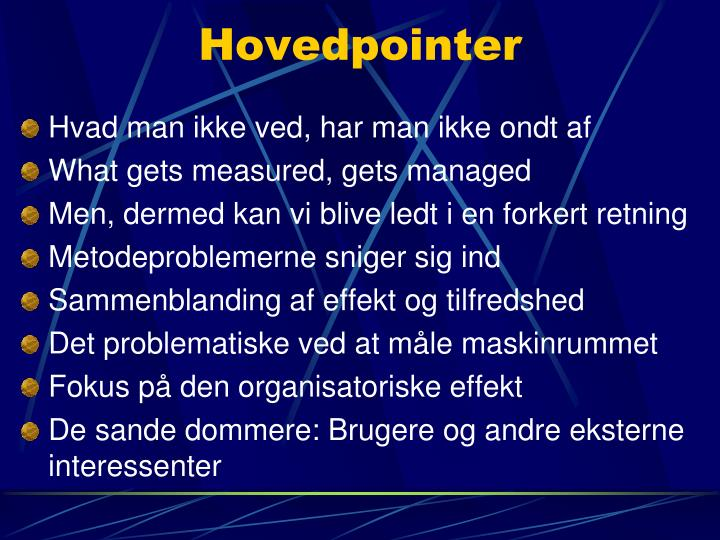 Hovedpointer