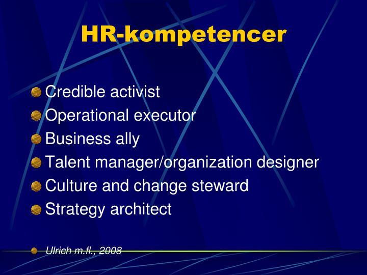 HR-kompetencer
