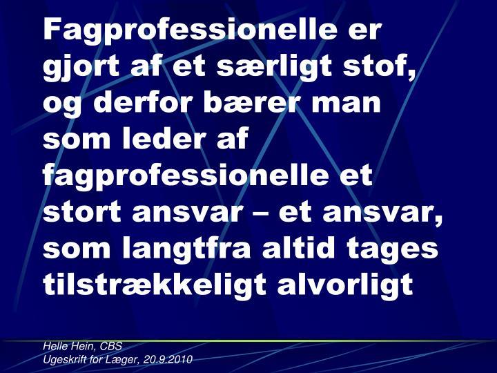 Fagprofessionelle