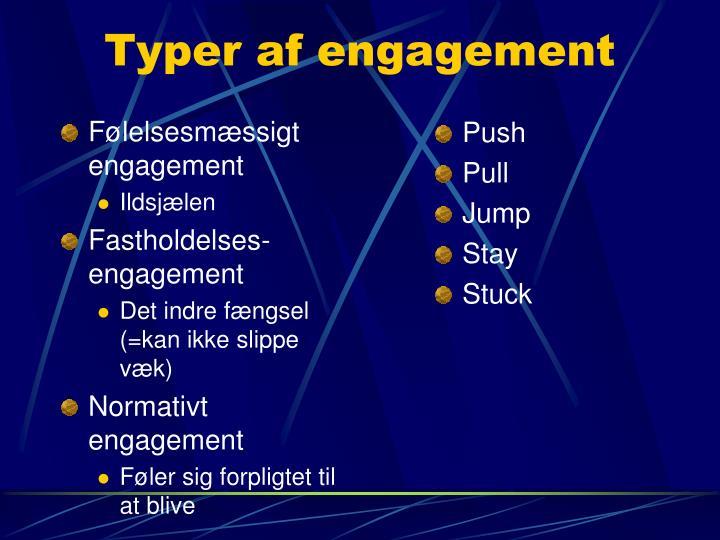 Typer af engagement