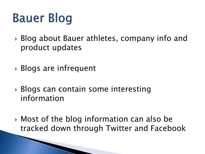 Bauer Blog