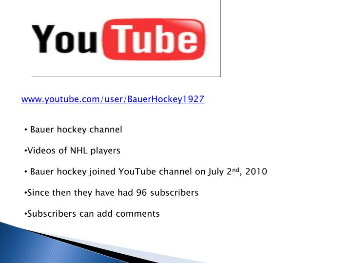 www.youtube.com/user/BauerHockey1927