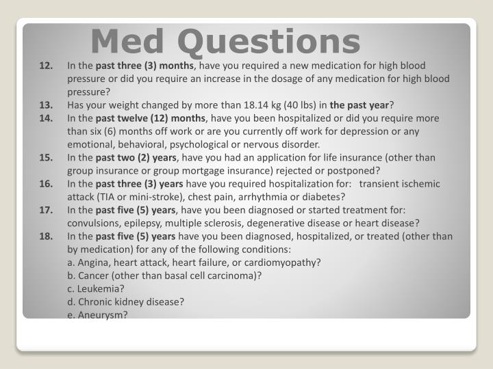Med Questions