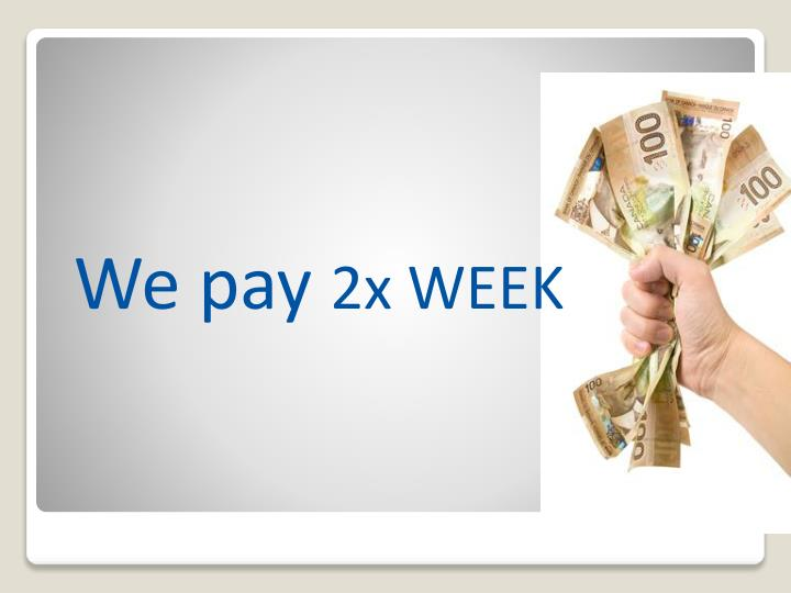 We pay