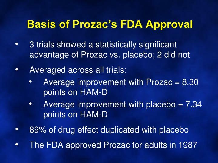 Basis of Prozac's FDA Approval