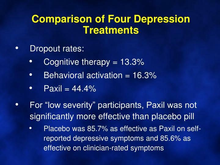 Comparison of Four Depression Treatments