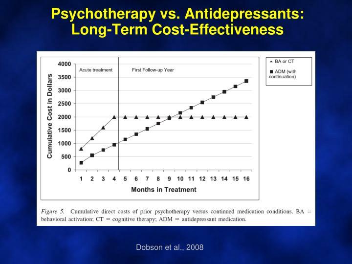 Psychotherapy vs. Antidepressants: