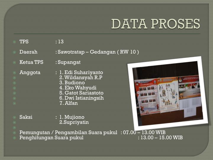 DATA PROSES