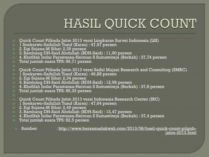 HASIL QUICK COUNT