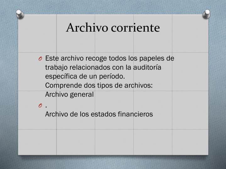 Archivo corriente