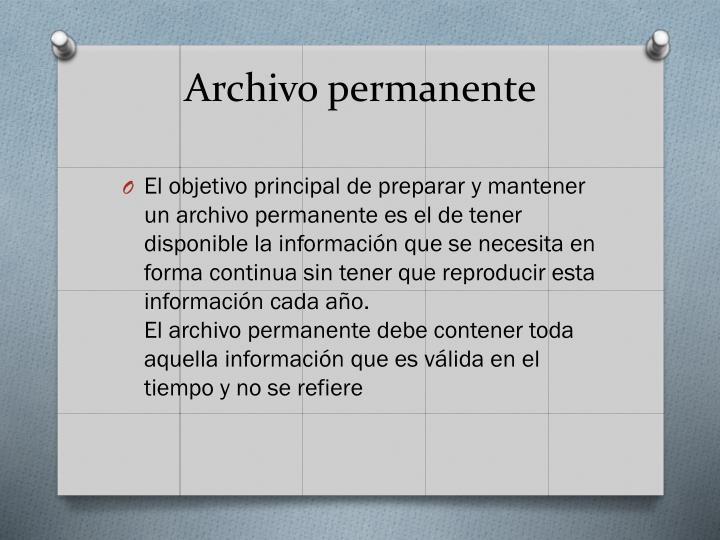Archivo permanente