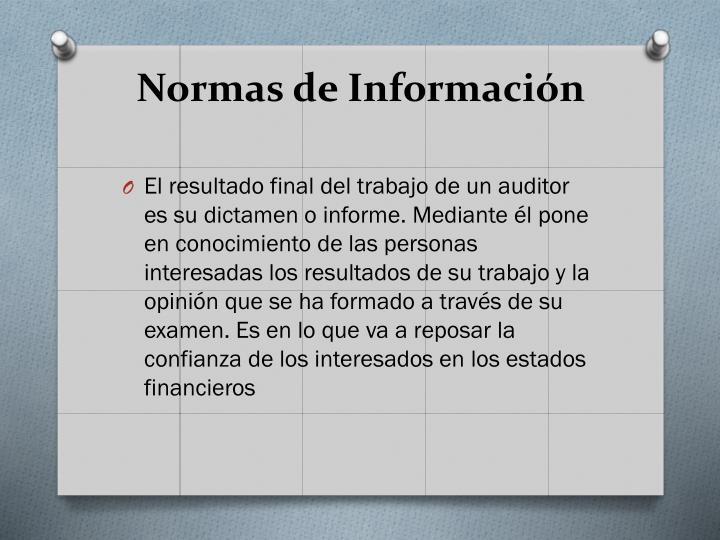 Normas de Informacin