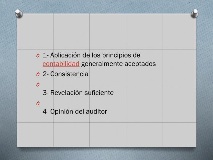 1- Aplicación de los principios de