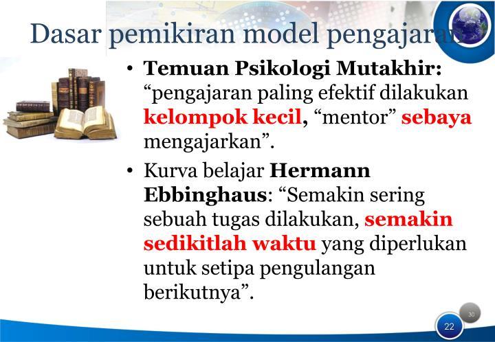 Dasar pemikiran model pengajaran