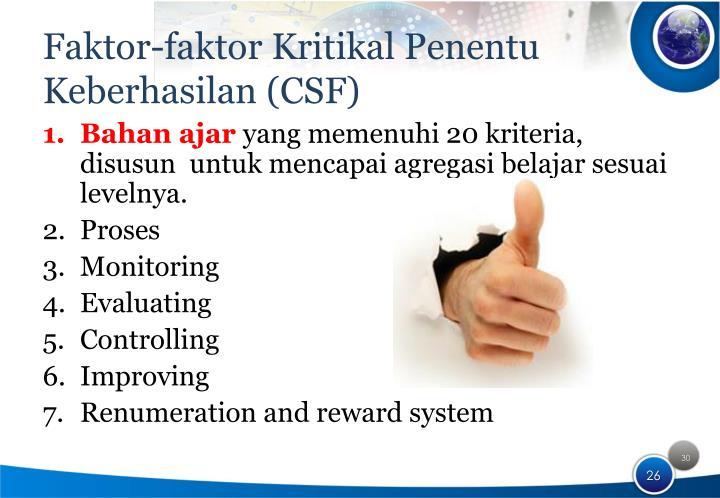 Faktor-faktor Kritikal Penentu Keberhasilan (CSF)