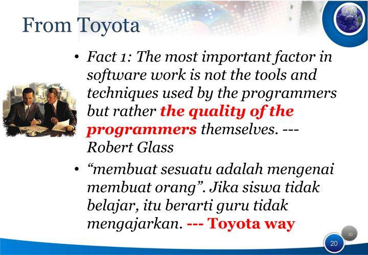 From Toyota