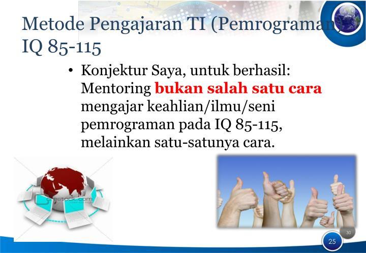 Metode Pengajaran TI (Pemrograman)