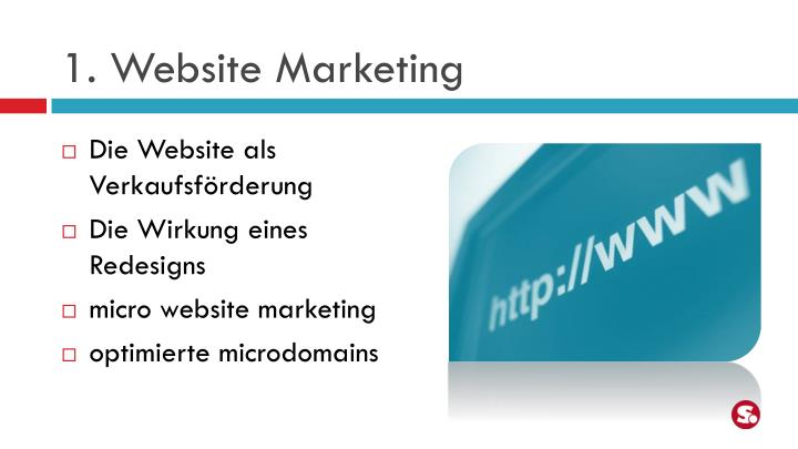 1. Website Marketing