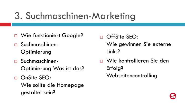 3. Suchmaschinen-Marketing