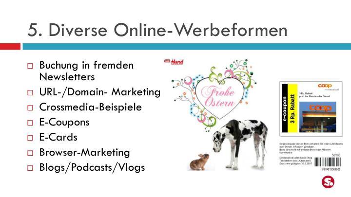 5. Diverse Online-Werbeformen