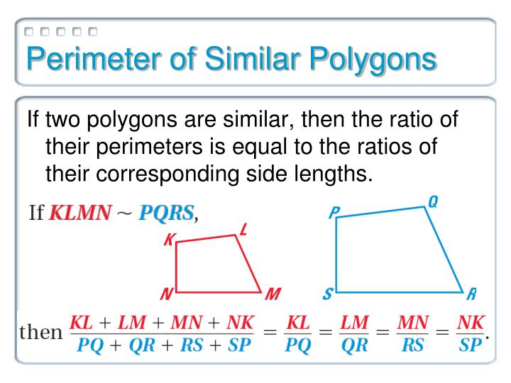 Perimeter of Similar Polygons