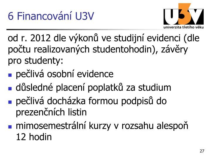 6 Financování U3V