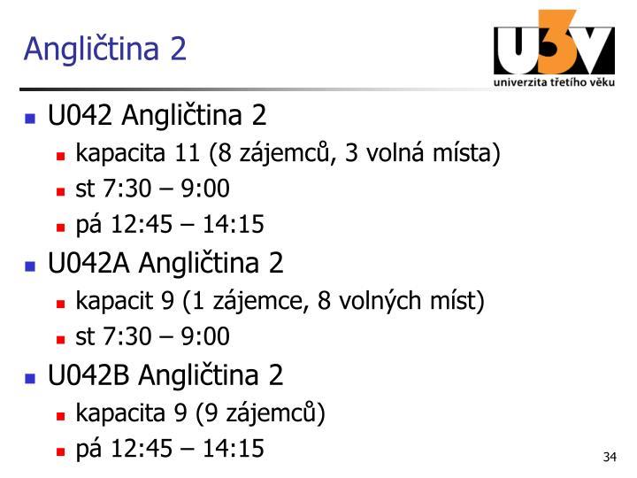 Angličtina 2