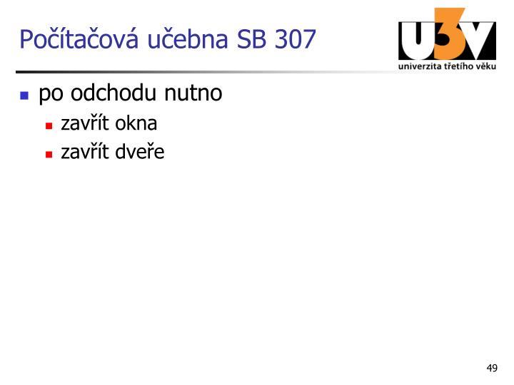 Počítačová učebna SB 307