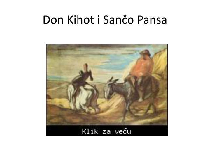 Don Kihot i Sančo Pansa