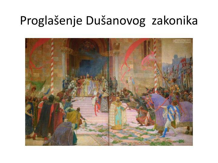Proglašenje Dušanovog  zakonika