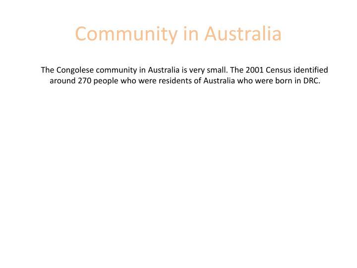 Community in Australia