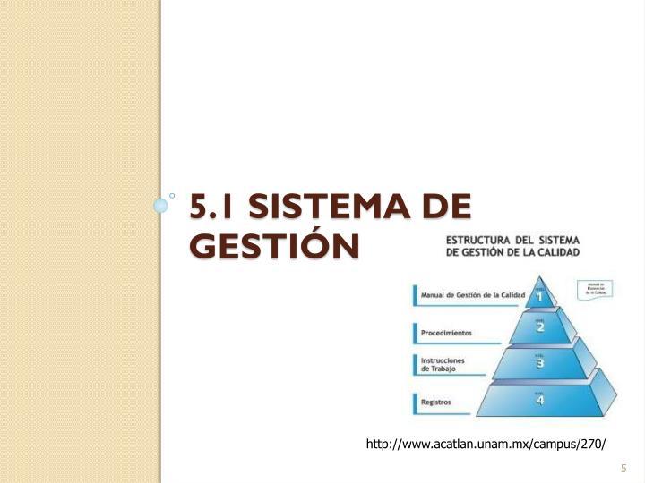 5.1 Sistema