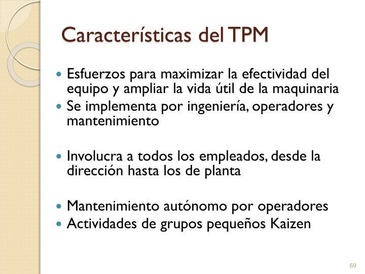 Características del TPM