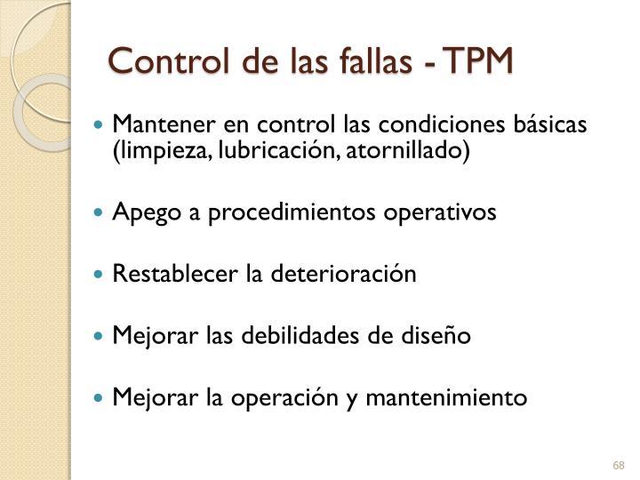 Control de las fallas - TPM