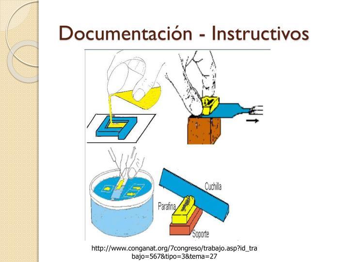 Documentación - Instructivos