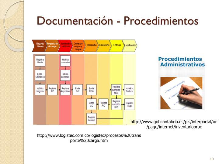 Documentación - Procedimientos