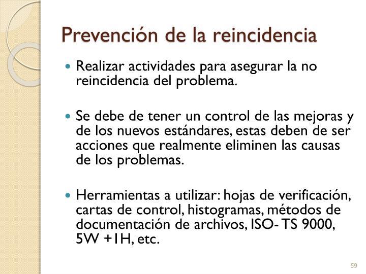 Prevención de la reincidencia