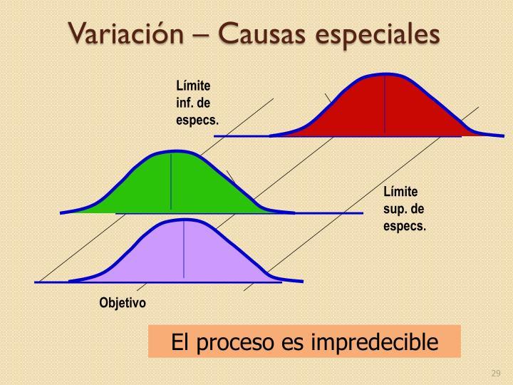 Variación – Causas especiales