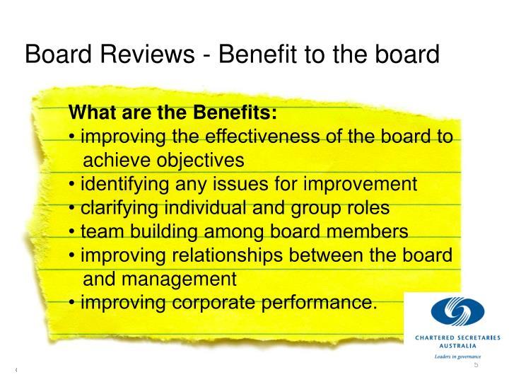 Board Reviews - Benefit