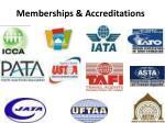 memberships accreditations