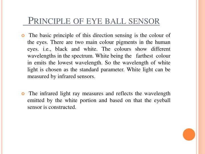 Principle of eye ball sensor