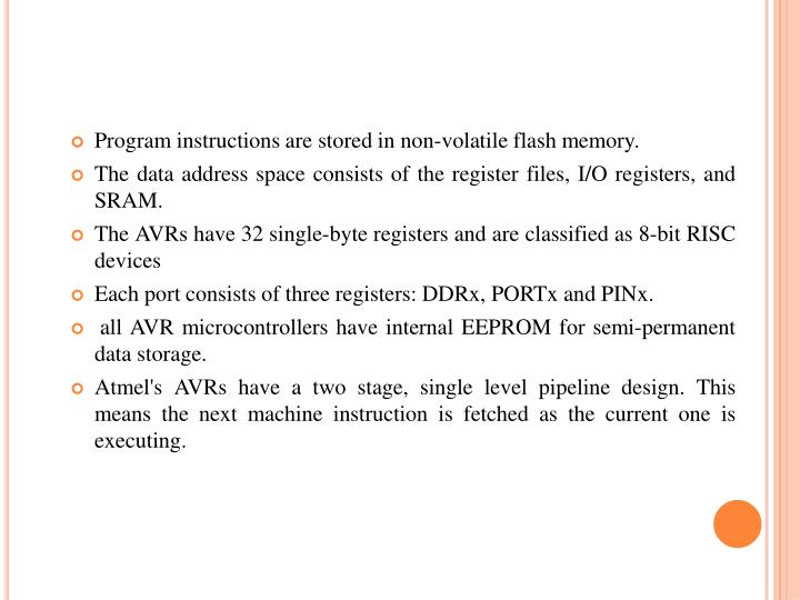 Program instructions are stored in non-volatile flash memory.